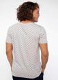 DeFacto Cep Detaylı Desenli T-shirt Beyaz